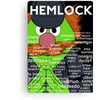 Hemlock with title Canvas Print