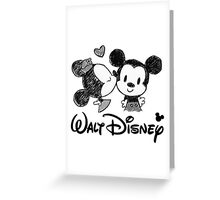 Mickey and Minnie Mouse Greeting Card