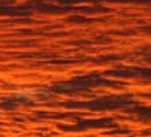 Fiery Daytona Beach Bridge Sunset ♡ Sticker