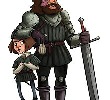 Arya and The Hound by columnnotes