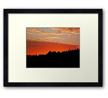 Sunset Over The Rooftops at Hove Framed Print