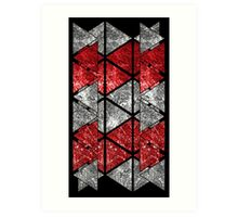 Red Triangle Stack Art Print