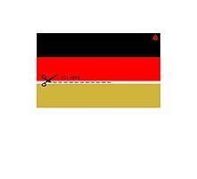 Schwarz - Rot - CUT HERE - Gold by e-gruppe