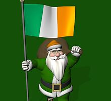 Santa Claus With Flag Of Ireland by Mythos57