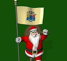 Santa Claus With Flag Of New Jersey by Mythos57