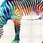 Colorful Zebra Art by Sharon Cummings by Sharon Cummings