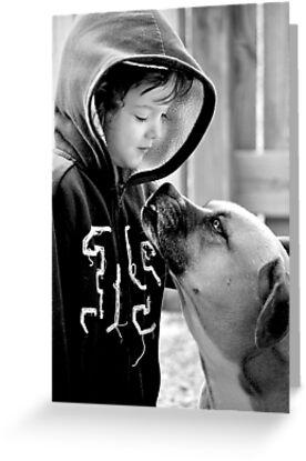 A Boy and His Dog.... by Karen  Helgesen