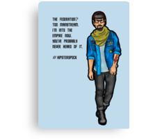 Hipster Spock Canvas Print
