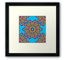 Psychedelic jungle kaleidoscope ornament 4 Framed Print