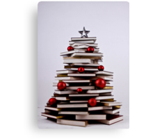 """XMAS BOOK TREE ~ OMG Sold  """"193 """" of these YAY !!! Canvas Print"""
