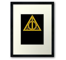 Bookly Hallows - Gold Framed Print