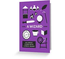 Once Upon A Time - A Wizard Greeting Card