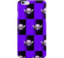 Wing Skull - PURPLE (Pattern 2) iPhone Case/Skin