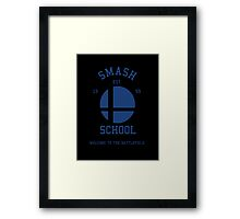 Smash School (Blue) Framed Print
