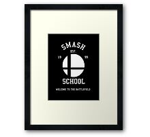 Smash School (White) Framed Print