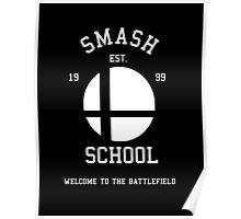 Smash School (White) Poster