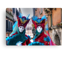 Venice - Carnival Mask 2012....03 - Twins Canvas Print