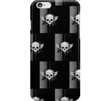Wing Skull - BLACK & WHITE (Pattern) iPhone Case/Skin