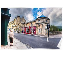 Shopping on Pulteney Bridge - Bath, England Poster