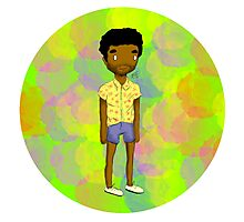 Black Male In Short Shorts, I'm Double Suspect Photographic Print