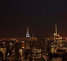 New York City - Empire State building by night by Olivia Son