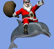 Santa Claus Riding A Dolphin by Mythos57