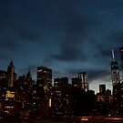 New York City Skyline - by night by Olivia Son