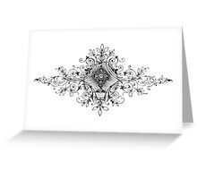 iPhone Case very old print ornament 1864 Greeting Card