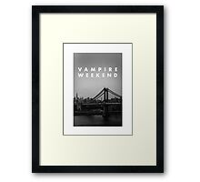 Vampire Weekend NYC Framed Print