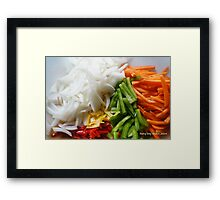 garden fresh to dinner delicious Framed Print
