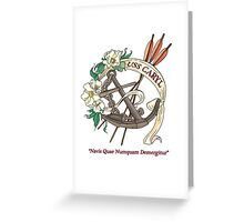 USS Caryl Official Logo Greeting Card