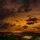 Sunset over Chestnut Hill Reservoir. by LudaNayvelt