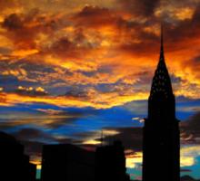 Golden Sunset Indigo Sky Sticker