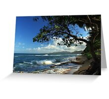 The Beach At Kapaa Greeting Card