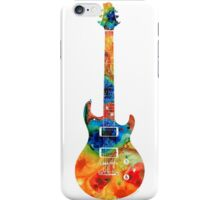 Colorful Electric Guitar 2 - Abstract Art By Sharon Cummings iPhone Case/Skin