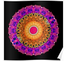 Positive Energy - Kaleidoscope Mandala By Sharon Cummings Poster