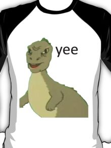 Yee [dinosaur maym :^)] (version 1, video quality, black text) T-Shirt
