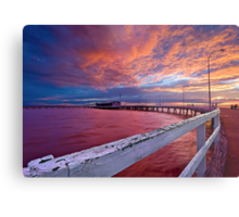 Sunset: Derby-style Metal Print