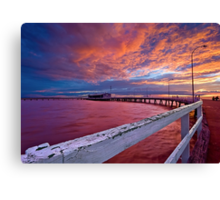 Sunset: Derby-style Canvas Print