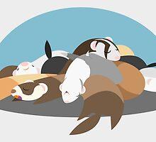 Sleeping Slinkies by GrandTickler