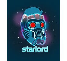 Neon Star Lord Mask Photographic Print