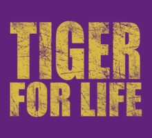 Tiger for Life -Gold and Purple T-Shirt