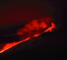 Lava Flow Mout Etna by Francis Drake