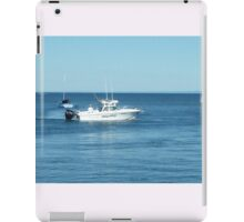 A large boat on its way out to sea for some fishing- Werribee Sth. iPad Case/Skin