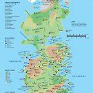 Westeros Locations Map by Digital Phoenix Design