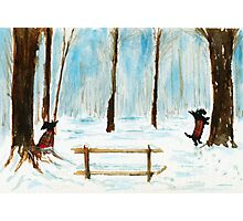 Scottie Dogs The Four Seasons 'Winter' Photographic Print