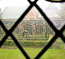 Looking Through a Cloister Window to the Centre Garden by AnnDixon