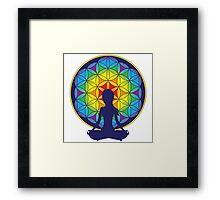 Flower of Life Meditation Framed Print