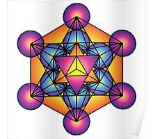 Metatron's Cube Merkaba Poster