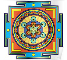 Metatron's Cube Mandala Poster